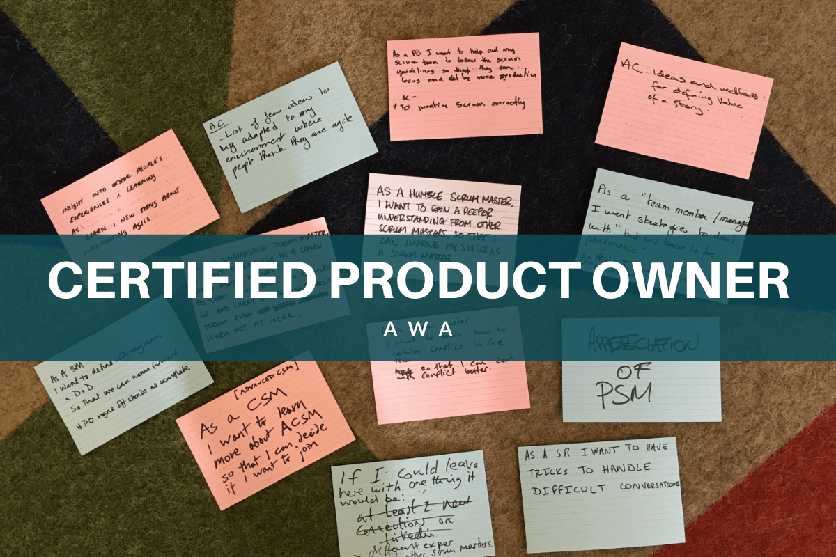 Certified product Owner CSPO